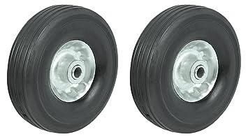 """10 """"utilidad de rueda de goma sólida para Dolly, vagones, carros de"""