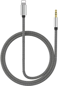 (Apple MFI Certified) Aux Cord for iPhone Xs XR X 8 7 Plus, Lightning to 3.5 mm Headphone Jack Adapter Aux Cable for Car Support iOS 11 12