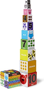 Melissa Doug Nesting And Stacking Blocks Numbers Shapes And Colors