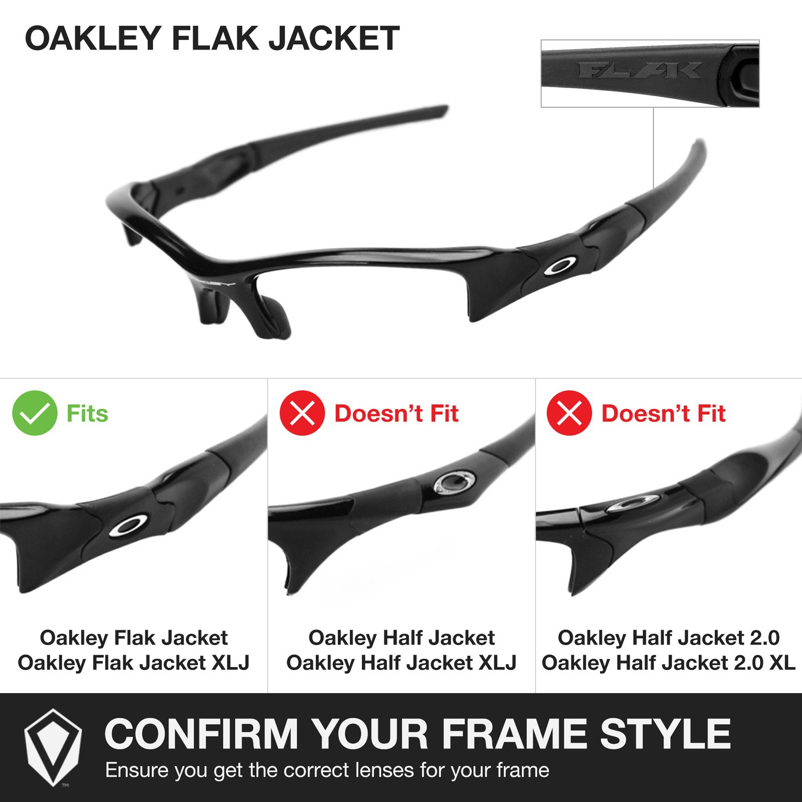 Revant Replacement Lenses for Oakley Flak Jacket 2 Pair Combo Pack K001 by Revant (Image #5)