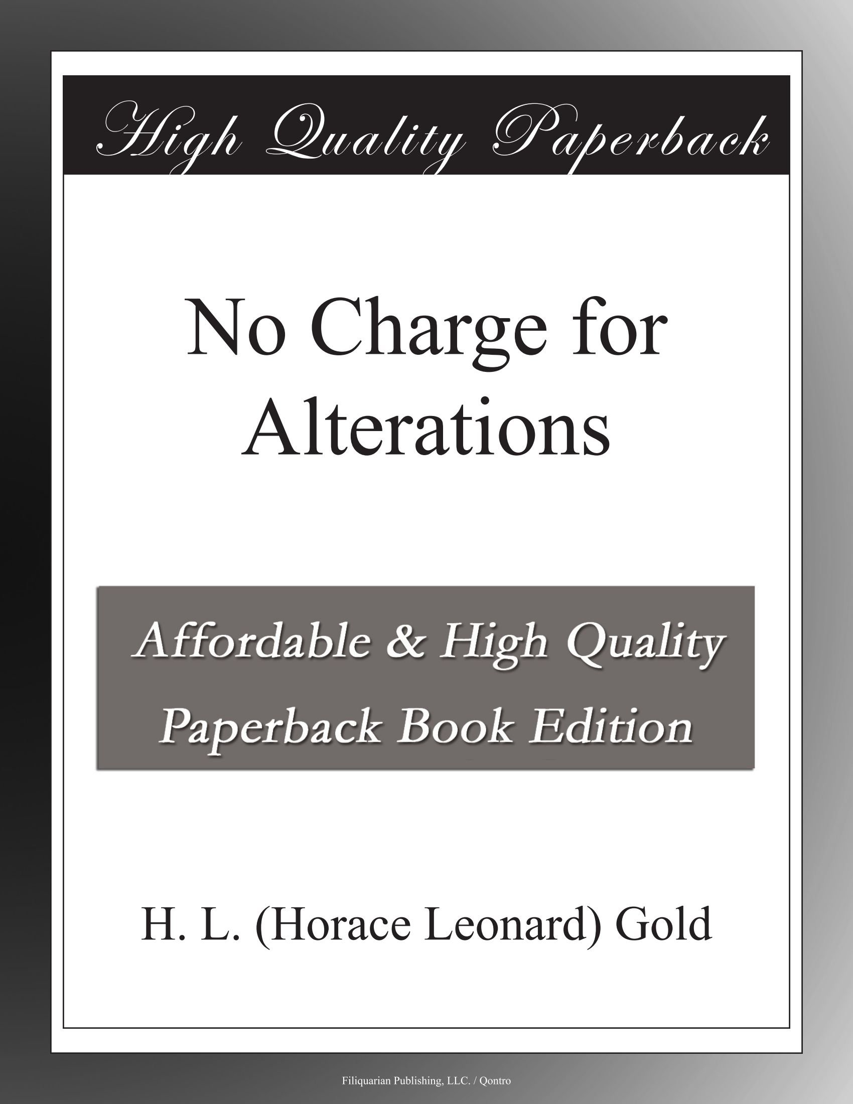 No Charge for Alterations pdf epub