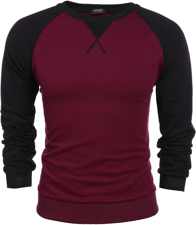 Coofandy Maglione Uomo Manica Lunga Pullover Cotone Felpa Sportiva Primavera