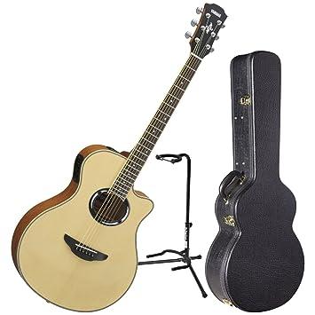 Yamaha apx500iii NT Thinline cuerpo acústica guitarra eléctrica Natural W/funda y soporte: Amazon.es: Instrumentos musicales