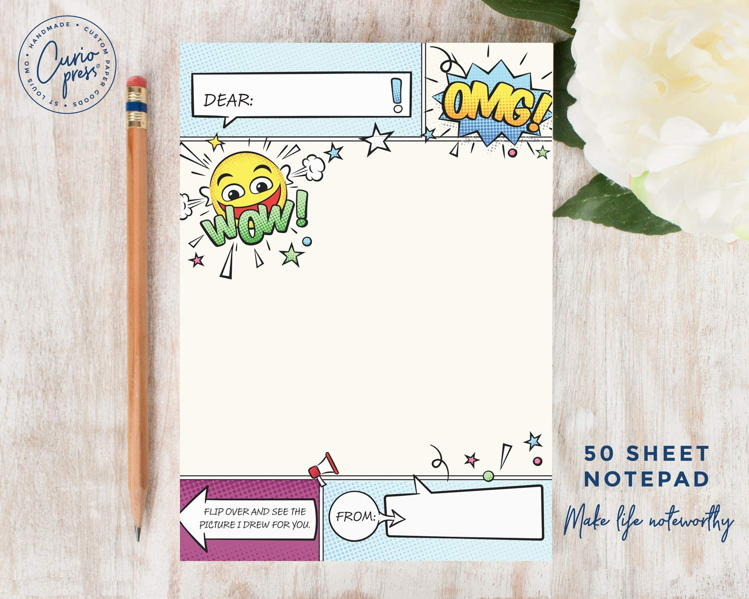Personalized Bold Stationery/Stationary 5x7 or 8x10 Note Pad TWO ...
