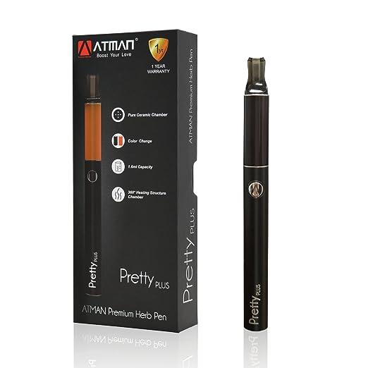 Vaporizer,ATMAN® Pretty Plus Dry Herb Vaporizer Trockener Kraut-Zerstäuber Kräuterverdampfer Kein Nikotin schwarz
