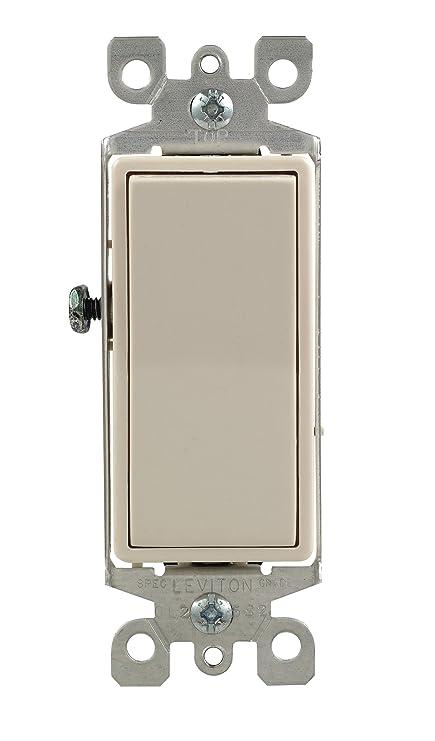 leviton 5611 2t 15 amp 120 277 volt decora rocker lighted handle rh amazon com