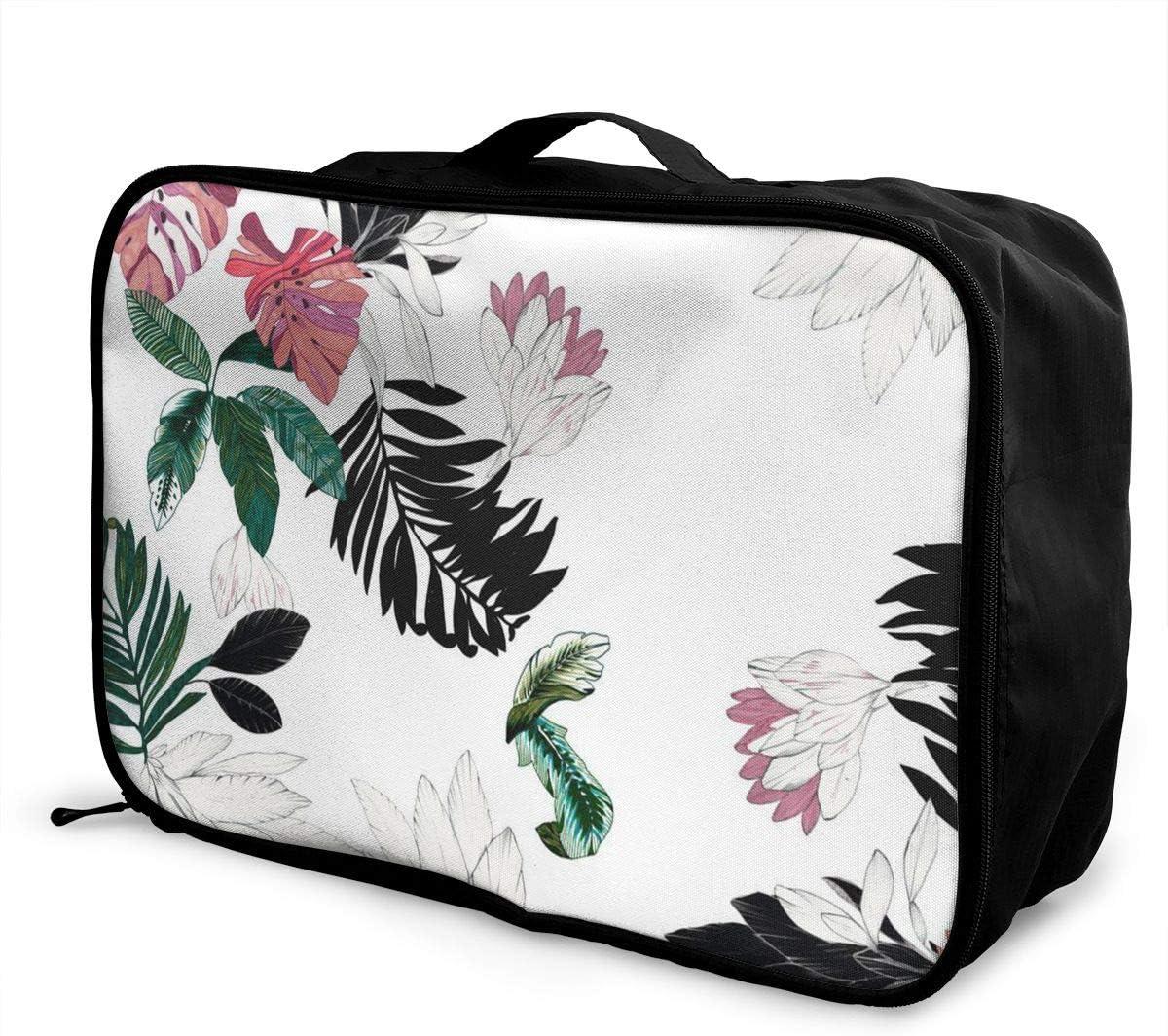 Flowers Travel Carry-on Luggage Weekender Bag Overnight Tote Flight Duffel In Trolley Handle