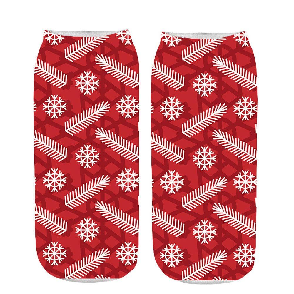 AMSKY Clearance! Socks Men Pack,Unisex Christmas Funny 3D Printed Socks Cute Low Cut Ankle Socks,