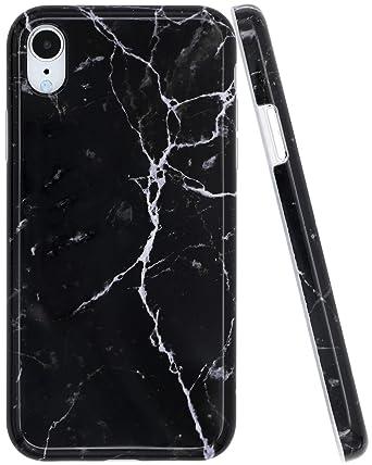 Amazon.com: Carcasa para iPhone XR con diseño de mármol para ...