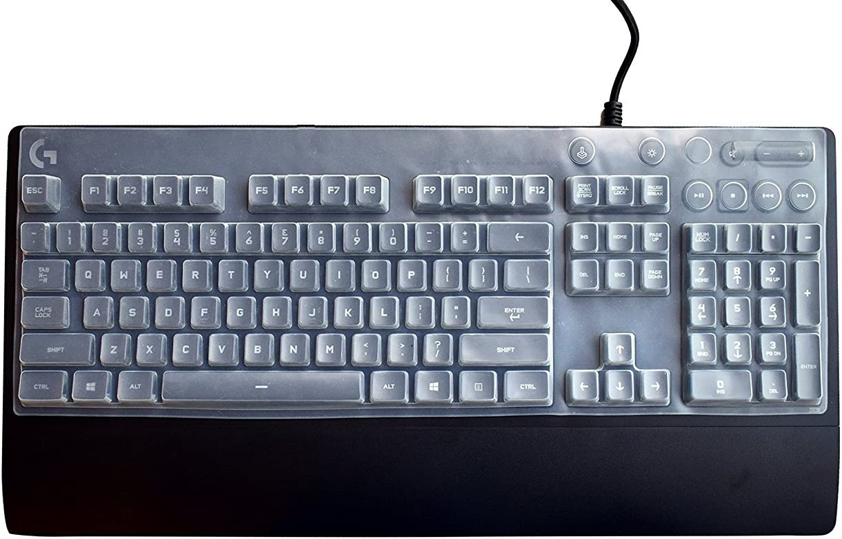 Leze - Ultra Thin Keyboard Cover Protector for Logitech G213 Gaming Keyboard - Clear