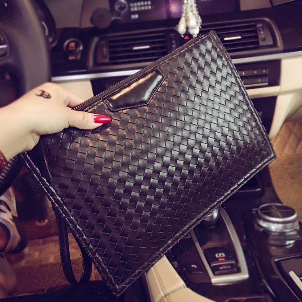 fd1a332bb76d6 AIURBAG Fashion PU Leder gewebt Casual Geldbörse Schlüssel Handy Handtasche  für Herren  Amazon.de  Sport   Freizeit