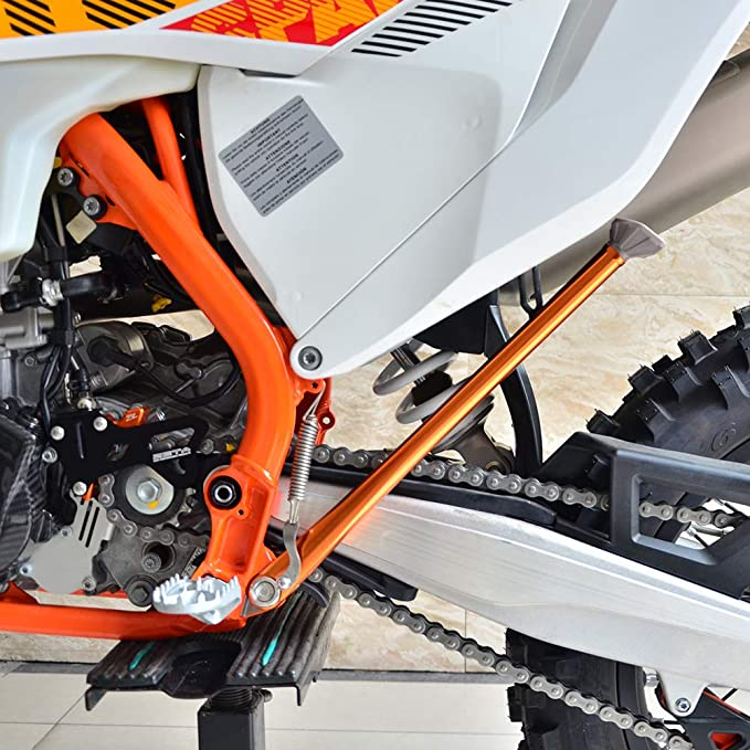 Nicecnc All Orange Side Stand Kickstand for EXC 125-150-200-250-300-400-450-525 1998-2007,Replace 78003023044 SEE Fitment