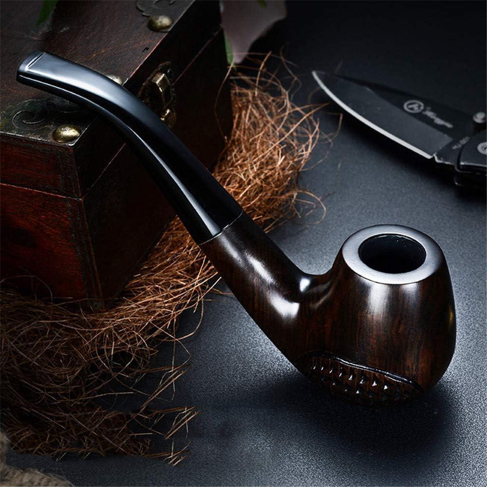 Baibao Pipe, tabaco de pipa Ebony, antiguo estilo de madera sólida cachimba pot, manual seco humo filtro cubo A2,15 cm (color: A1, tamaño: 15 cm)