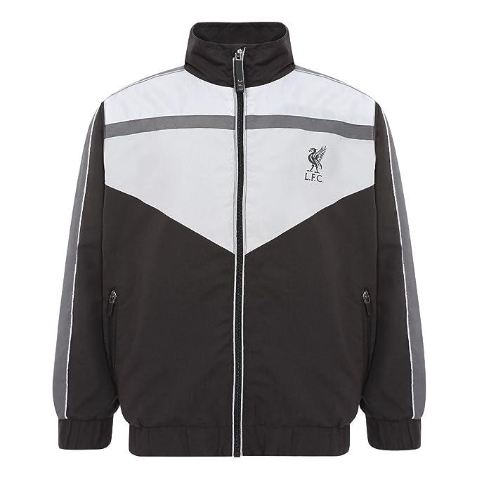 Liverpool FC Mens Camo Funnel Neck Zip Through Jacket LFC Official
