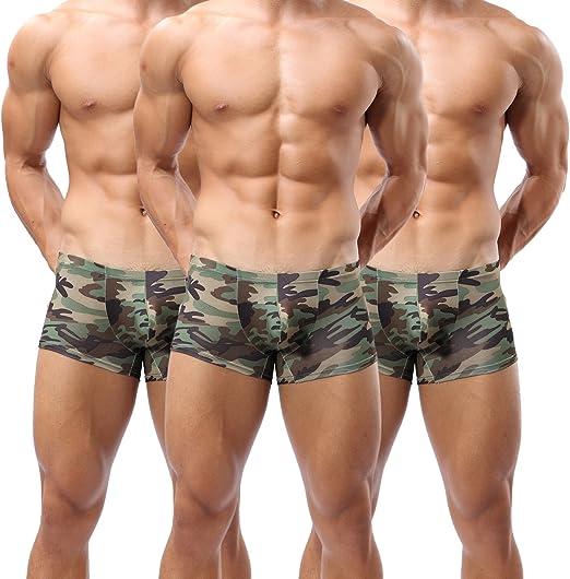 HX 1PC Mens Camouflage Camo  Boxer Shorts Briefs Adults Underwear