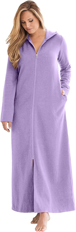 Womens Plus Size Hooded Fleece Robe Dreams /& Co
