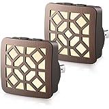 Dimmable Night Light Plug in, DORESshop 0.5W Vintage LED Dusk to Dawn Sensor Night Light, 2 Color Temperature Switch, Adjusta