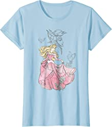 Disney Sleeping Beauty Aurora Sketch Graphic T-Shirt