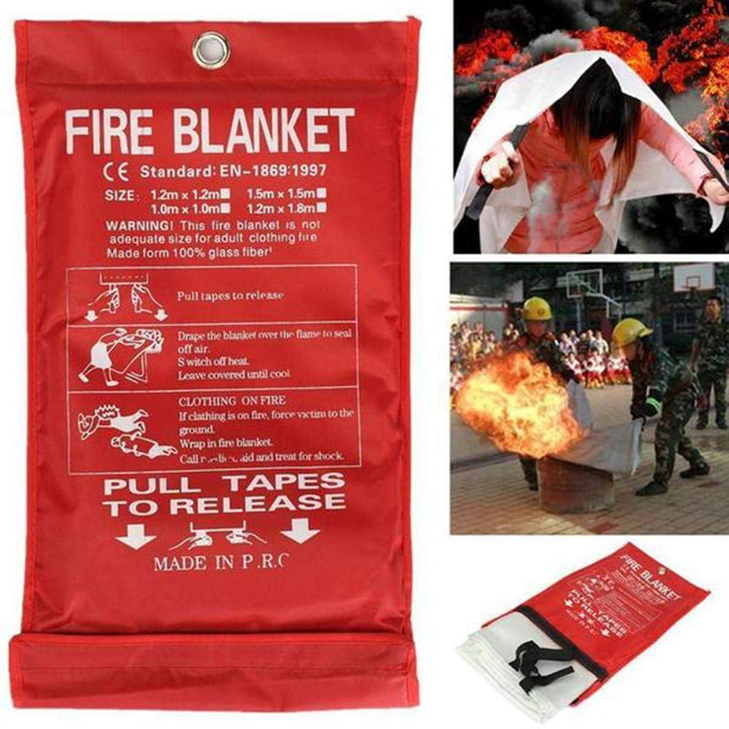 Ladiy Useful Fiberglass Fire Escape Anti-flame Retardant Fire Blanket Emergency Blankets by Ladiy (Image #1)