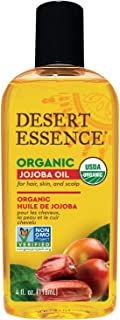 product image for Desert Essence Organic Jojoba Oil - 4 Fl Oz - Moisturizer for Face, Skin, Hair - Cleanses Clogged Pores - May Prevent Scalp Flakiness - Fights Skin Infections - USDA - Suitable for Sensitive Skin