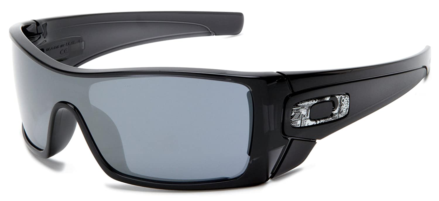 3b96bdc1b02 Amazon.com  Oakley Batwolf Men s Lifestyle Casual Wear Sunglasses - Black  Ink Black Iridium   One Size Fits All  Oakley  Clothing