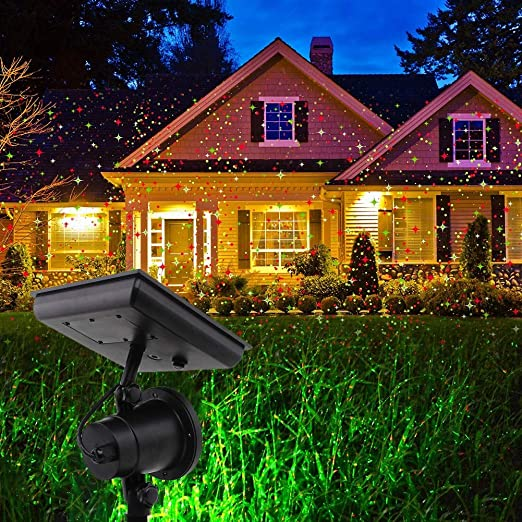 TYSYA Funciona con energía Solar proyector de la Navidad Al Aire ...