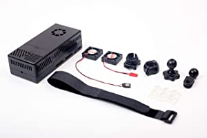 Summitlink V3 Black Case Dual Fans for Stratux ADS-B Kit Fits AHRS Module and GPYes