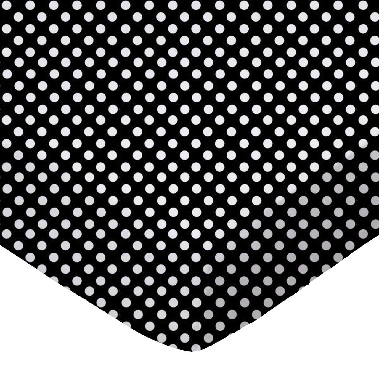 SheetWorld Fitted Cradle Sheet - Primary Polka Dots Black Woven - Made In USA by sheetworld   B003R9K3PS