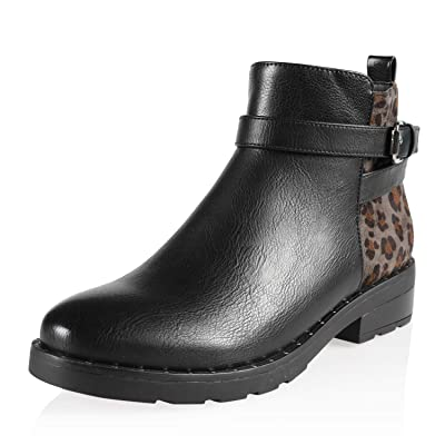 AIIT Women's Fashion Chunky High Heel Ankle Boot Shoe | Ankle & Bootie