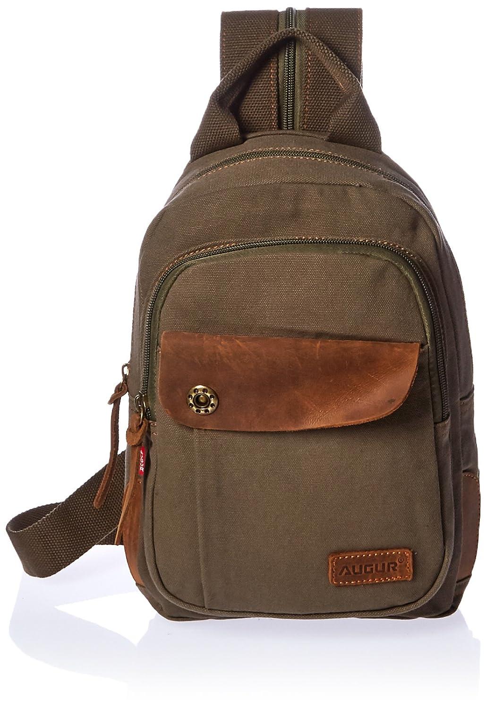 Amazon.com | Augur Men's Vintage Canvas Leather Shoulder Bag ...
