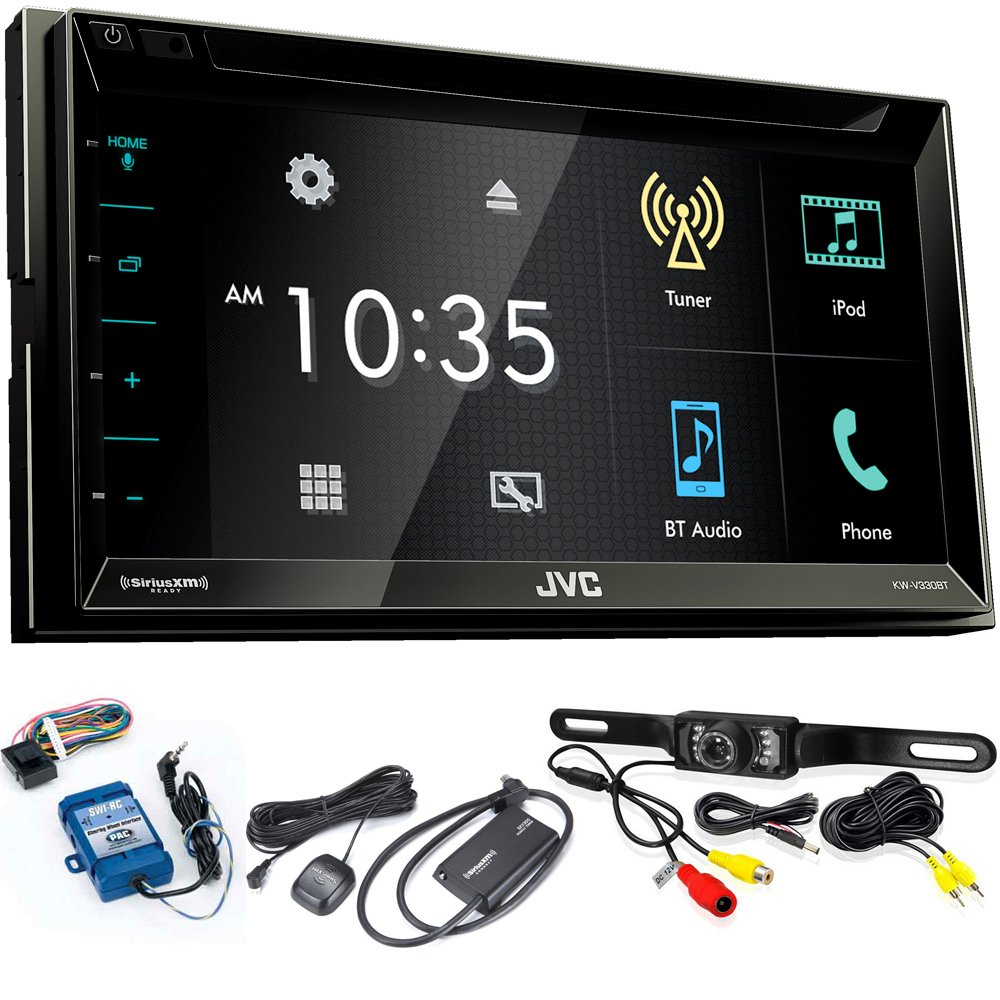 JVC KW-V330BT 6.8'' BT/DVD/CD/AM/FM/Digital Media Car Stereo with SiriusXM Tuner, Back Up Camera, Steering Wheel Controls
