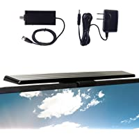 [2020 Version] GE HD Amplified TV Antenna, Easy Mount to Top of TV Design, Long Range, Supports 4K 1080P Digital HDTV…