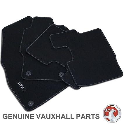 Genuine Oe Vauxhall Corsa D E Tailored Black Velour Front Rear