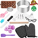 38pcs baking and pastry tools Professional cake ring 6 to 12 inch mold cake pops kit cake decorating kit biscuit cutter set Stainless Steel for adult