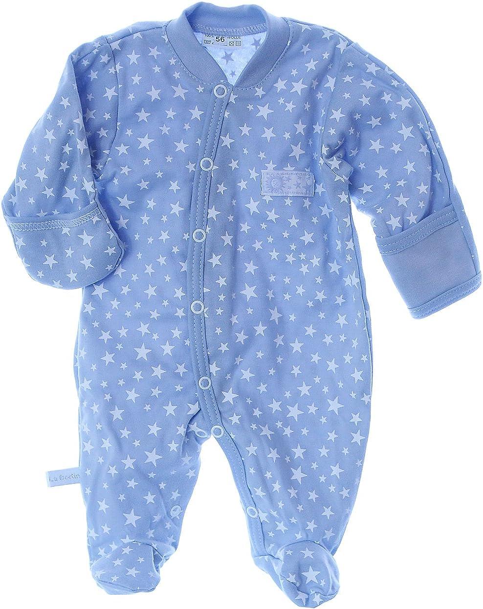 in verschiedenen Gr/ö/ßen Clinotest Baby Schlafanzug aus Jersey 180 g//m/² 1//1 Arm und Bein Druckkn/öpfe 100/% Baumwolle Baby Overall