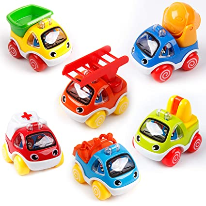 Amazon Com Pengpo Toys 6 Pack Pull Back Cars Toys For 1 2 3 Year