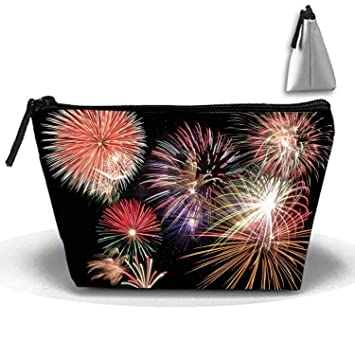2dc1474b75e9 Amazon.com : Portable Fireworks In Sky Cosmetic Bag Large Capacity ...
