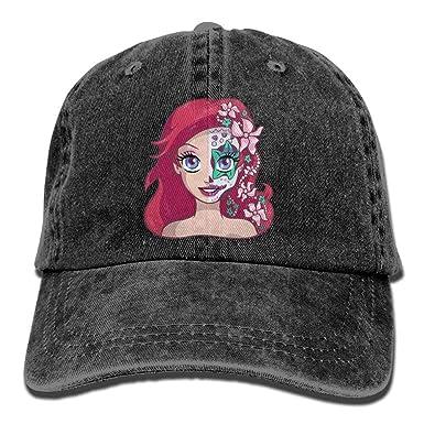 shyly Sugar Skull Series Ariel Adult Cowboy Hat Gorra de béisbol ...