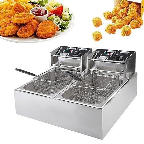 hehi Lark eh82 10L Gastronomía tentempiés fritura freidora fritöse grasa Back dispositivo Acero Inoxidable 2500 W