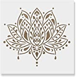 (60cm x 60cm) - Sacred Lotus Flower Stencil Template for Walls and Crafts - Reusable Stencils for Painting in Small & Large Sizes