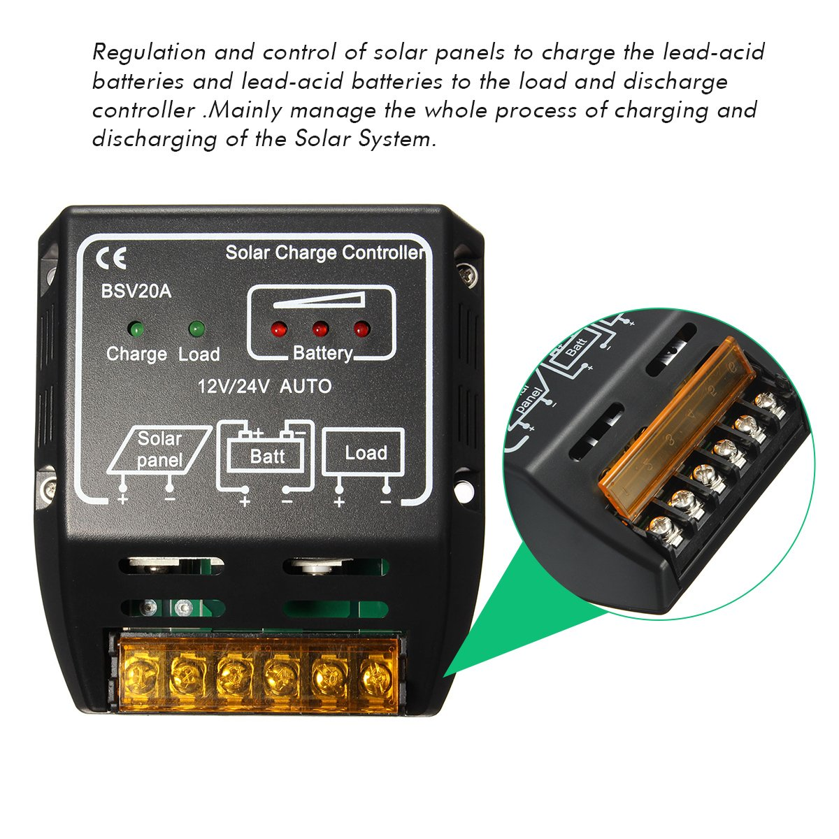 Mohoo 20a 12v 24v Solar Charge Controller Control Pwm 10a 12v24v Automatic Art Of Circuits Regulator Panel Battery Safe Protection Garden Outdoor