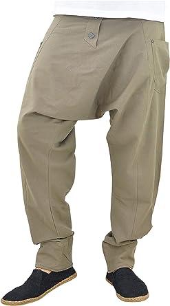 virblatt Pantalones cagados Mujer Harem Pants Pantalones Anchos ...