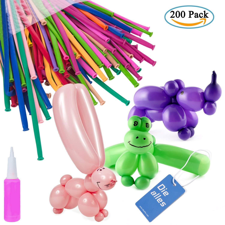 25 X Magic Modellierung Verdrehen Ballons Geburtstagsparty Farben Dekoration