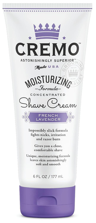 Cremo French Lavender Moisturizing Shave Cream, Astonishingly Superior Shaving Cream For Women, Fights Nicks, Cuts And Razor Burn, 6 Fluid Ounces