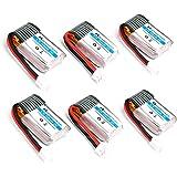 HOBBYTIGER 6-Pack 3.7V 150mAh Battery for Eachine E010 JJRC H36 GoolRC T36 Mini UFO Quadcopter Drone