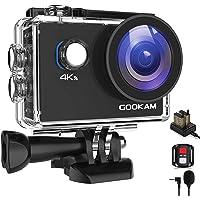 GOOKAM Go 2 Action Cam 4K 20MP onderwatercamera 40M waterdichte camera actiecamera WiFi helmcamera met 2.4G…
