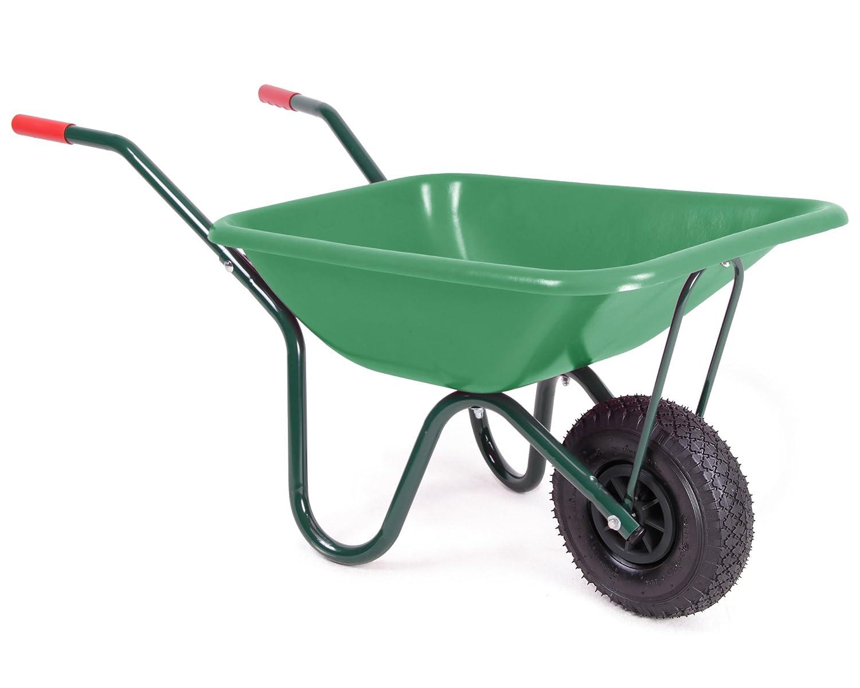 Schubkarre für Kinder vollwertige Gartenkarre mit Luftrad und Metallgestänge 40 Liter