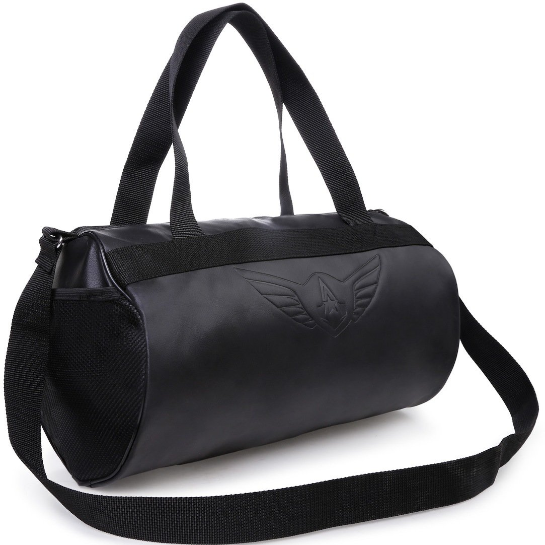 Auxter Blacky Leatherette Gym Bag