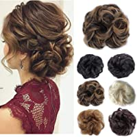 Hair Bun Hairpieces Scrunchies Donut Hair Extensions Synthetic Fiber Hair Messy Bun Chignons Hair (Brown Mix Light Aubum #2/33)