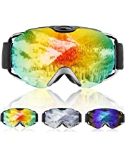 9fa128f60b6f Ski Goggles- Double Lens OTG Skiing Goggles with Anti-fog and 100% UV
